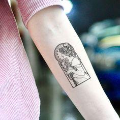 to make temporary tattoo crafts ink tattoo tattoo diy tattoo stickers Alphonse Mucha, Art Nouveau Tattoo, Unique Tattoos, Beautiful Tattoos, Small Tattoos, Dreieckiges Tattoos, Body Art Tattoos, Tattoo Ink, Tatoos