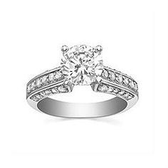 Engagement Ring with 0.536 CT. T.W. side diamonds, Round Shape