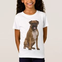 """#Boxer Puppy Dog """"Boxer Love"""" Girls Tee Shirt - #boxer #puppy #boxers #dog #dogs #pet #pets #cute"""