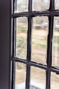 The Best Trick for Painting French Doors - Bless'er House Black French Doors, Sliding French Doors, French Doors Patio, Black Doors, Patio Doors, Double Doors, Black Windows, Paint Doors Black, French Door Decor