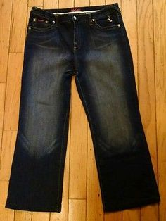 Baby Phat Boot Cut Jeans Womens Size 18 Stretch EUC