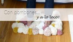 Te mostramos todo el paso a paso para fabricar tu propia alfombra con pompones de lana.