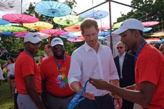 "Kensington Palace on Twitter: ""Prince Harry meets @regisgburton, one of the #QueensYoungLeaders, and founder of @nolanhueinc, which supports young people in Antigua"