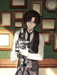 "He points the camera at me,""Smile!"" ""I..I can't..."" I blush and start to hide my face. ""Haha, don't worry you look beautiful!"""