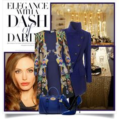 """""""Elegance is good taste, plus a dash of daring"""" - Carmel Snow by danielle-broekhuizen on Polyvore featuring polyvore fashion style Mary Katrantzou Vivienne Westwood Anglomania Roberto Cavalli Mulberry IDeeen"""