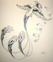 Ahh. I love Phoenix tattoos. I especially love the super elongated tail. Maybe something like this on my left shoulder with the tail wrapping around to rib cage.