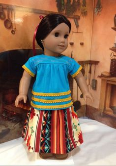 Christmas Sale Josefina work skirt and blouse  fits dolls like American girl and other 18 inch dolls