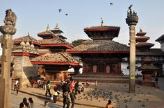 As a kid, Saturday mornings were spent here feeding pigeons. Basantapur Durbar Square, Nepal.