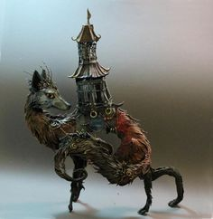 Beautiful and unique sculptures of fantastic animals! Made from polymer clay and acrylic paint!