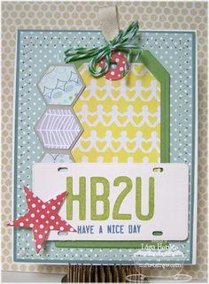 Vanity License Plate Die-namics & Stamp Set, Hexagons Die-namics, Traditional Tags Die-namics, Star STAX Die-namics - Lisa Henke