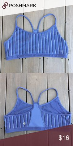 Lululemon bra Lululemon light support sports bra. Good used condition. Room for cups but none included. Sz 12. No rip tag. Please note colors differ with phone/screen viewed/lighting condition. lululemon athletica Intimates & Sleepwear Bras