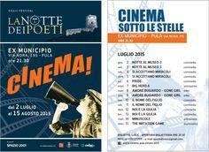 """Fa ritorno a #Pula il cinema all'aperto, a cura di Spazio 2001 nella programmazione del XXXIII Festival """"La Notte dei Poeti"""" palazzo Ex Municipio via Nora, 195. Biglietto € 5,00 inizio spettacoli ore 21:30 apertura biglietteria 20:30 per informazioni Tel. 070/271709 ARENA Cinema PULA Estate 2015 #VisitPula #Sardinia #Discovering #DafareaPula #Cultura #VisitSouthSardinia #Eventi #Sardegna #Cinema #PulaDimensioneEstate"""