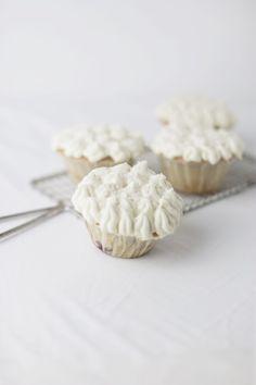 cherry cupcakes with white chocOlate ganache