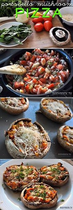 Add whatever veggies you like. Add some herbs bake in oven at 375 for 30-40 mins or until cheese is melted and there you go!!! You can also sauté up some onions in oil, add tomato and maybe some chicken. This recipe works w/ 21 Day Fix.