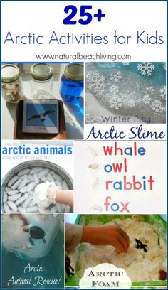 The Best Arctic Activities for kids, over 25 different ideas for Sensory play, science, animals, math, language arts, Montessori, unit studies and more.