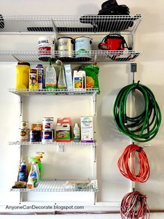 Anyone Can Decorate: Custom Garage Organizer on a Budget. Great ideas here. Anyone Can Decorate: Custom Garage Organizer on a Budget. Great ideas here. Garage Tool Organization, Garage Tool Storage, Budget Organization, Garage Tools, Garage Ideas, Workshop Organization, Basement Storage, Garage Workshop, Organizing Ideas
