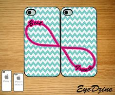 Best Friends Infinity Tifanny Blue Chevron IPhone Case ... If only zeni and I had iPhones! I would make her get this case!