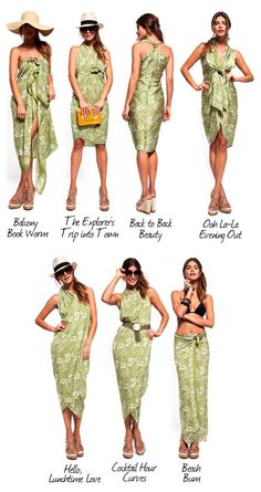 One of my basic travel essentials is a sarong.   The perfect accessory for any beach holiday destination. T...