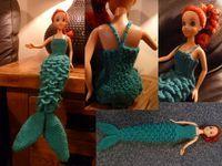 Barbie -A demure mermaid dress   http://craftymamasanchez.blogspot.com/2012/02/demure-mermaid-dress.html
