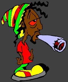 image rasta canabis - Page 2 Cartoon Smoke, Cartoon Art, Cartoon Images, Art Rasta, Reggae Art, Bob Marley Art, Weed Pictures, Dope Cartoons, Street Art