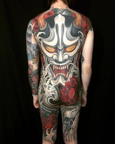Hannya Mask backpiece by joseph_pineda at Immovable Tattoo in Bossier City, LA ...