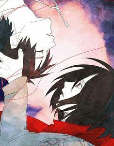 Eren & Mikasa - Attack on Titan - Shingeki no Kyojin Attack On Titan Eren, Attack On Titan Ships, Mikasa X Eren, Armin, 5 Anime, Anime Art, Levi Squad, Maou Sama, Tamako Love Story