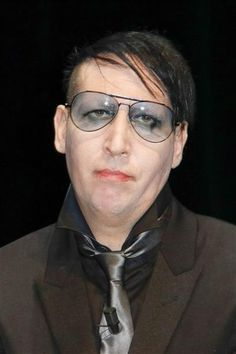 Aw, Marilyn Manson is feeling blue.