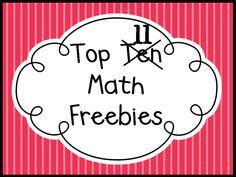 Queen of the First Grade Jungle: Top Ten Math Freebies--great games/centers