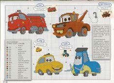 Ponto cruz - Gráficos - Trabalhos: monograma disney - cars - carros - filme lindo disney