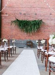 Trend Tuesday - Hanging Floral Installations - Romantic Los Angeles Warehouse Wedding - featured on Green Wedding Shoes - Lush ceremony backdrop with draping greenery - Photo by Leif Brandt Photography Wedding Ceremony Ideas, Wedding Trends, Wedding Tips, Wedding Day, Wedding Shoes, Wedding Blog, Trendy Wedding, Wedding Arches, Perfect Wedding