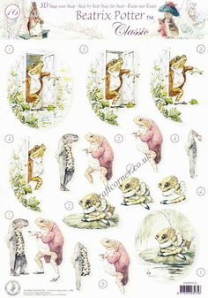 3D decoupage sheet with Beatrix Potter s Squirrel Nutkins designs  This sheet is a step by step sheet which means you are shown which parts to cut