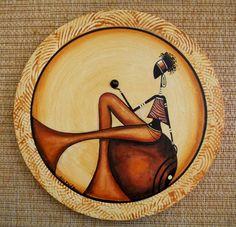 African Art Paintings, African Artwork, African Pottery, Haitian Art, Contemporary African Art, Africa Art, Rustic Art, African American Art, Pottery Painting