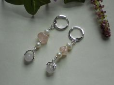 Rose Quartz Stone and fresh water pearls by DesignImagesLLC