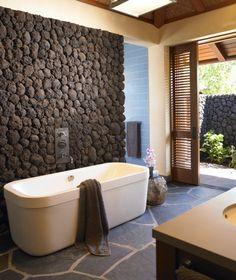 volcanic rock decorative wall