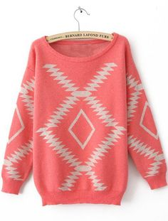 Girly Geometric Aztec Sweater