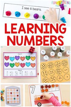 Learning numbers can be fun and engaging. These number activities are perfect for math centers and fun at home. #numberactivities #mathforkids #preschoolmath #kindergarten #preschool