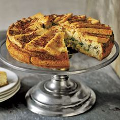 Fontina and Herb Charlotte. Elegant eggs, served in this savory charlotte, begin with Fontina and ricotta cheeses, fresh basil and parsley, and thin slices of bread. The result is a melt-in-your-mouth meal, suitable for brunch or dinner.