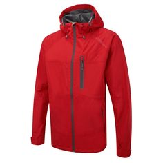 VOLOS MENS WATERPROOF JACKET BRIGHT RED - Outdoor Clothing, Ski Wear and Snow Clothing -TOG24