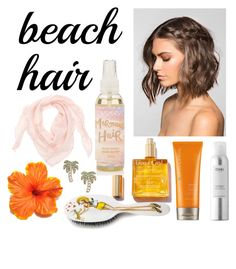 """""""Perfect Beach Hair"""" by leyla13-togz ❤ liked on Polyvore featuring beauty, Ouai, Moroccanoil, Rock & Ruddle, Kate Spade and beachhair"""