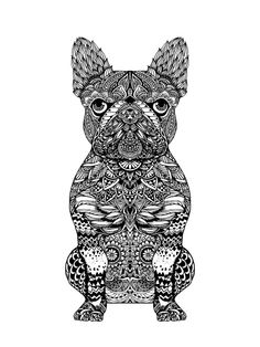 Mandala Frenchie Art Print