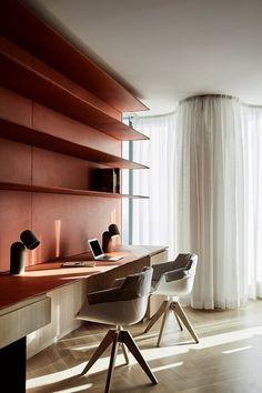 2017 Australian Interior Design Awards · Residential Highlights — The Design Files Workspace Design, Office Workspace, Home Office Design, Home Office Decor, House Design, Home Decor, Office Ideas, Australian Interior Design, Interior Design Awards