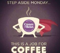 Happy Monday!  Cream N Bean has your perfect cup! #latte #coffeetime #monday #mondaymotivation #creamnbean