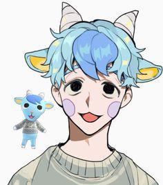 Animal Crossing Fan Art, Animal Crossing Memes, Animal Crossing Villagers, Art Sketches, Art Drawings, Queen Anime, Pokemon, Anime Animals, Human Art