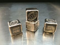 """oz Hand Poured 999 Silver Bullion Bar """"Cube"""" by YPS - Yeagers Poured Silver ( 2540 Watch Count ) 1 oz Hand Poured 999 Silver Bullion Bar """"Cube"""" by YPS - Yeagers Poured Silver ( 2540 Watch Count ) Old Silver Coins, Buy Gold And Silver, Gold Bullion Bars, Bullion Coins, Buy Silver Bullion, Cubes, Silver Investing, Silver Ingot, Gold Stock"""