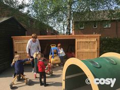 RIPLEY BIG BIKE SHED - Sheds and Outdoor Storage - Early Years - Cosy Direct & TRIKE STORAGE SHED - Sheds and Outdoor Storage - Early Years - Cosy ...