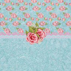 Vintage Elegant Pink Roses Pattern Art Print by Debra  Miller