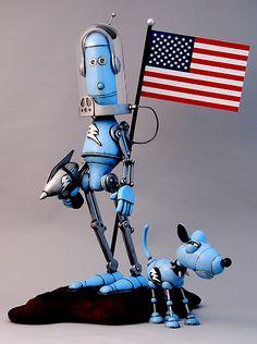 Lawrence Northey's detailierte Roboter-Skulpturen sind einfach der Hammer!…