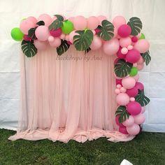 2nd Birthday Party For Girl, Moana Birthday Party, Hawaiian Birthday, Luau Birthday, Birthday Ideas, Hawaiian Parties, Hawaiian Luau, Pink Flamingo Party, Flamingo Baby Shower