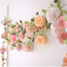 I love this floral garland.. It could transform a little girls room into a woodland princess fairy tale  @fancyfreefinery