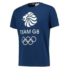 Team GB Core Logo T Shirt - Mens - Navy
